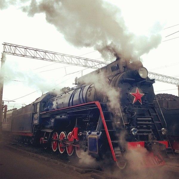 Паровоз ЛВ-0522 1956 г., последний построенный в СССР паровоз. паровоз, стимпанк, РЖД