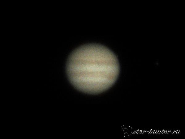 Юпитер, 30 июня 2017 года, 20:58. Транзит НЛО! Юпитер, астрофото, НЛО, астрономия, космос, планета, StarHunter, АнапаДвор, гифка