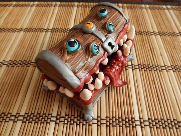 Мимик из полимерной глины Мимик, Творчество, Полимерная глина, Фигурка