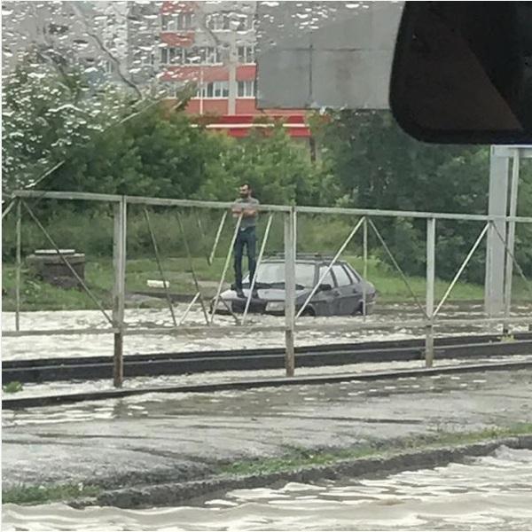 В Барнауле прошел дождь...