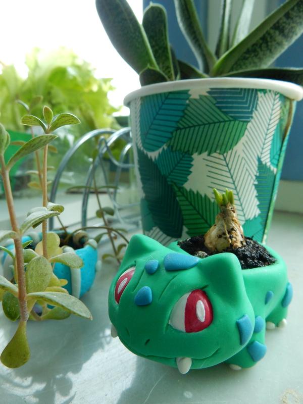 Бульбазавр цветочный горшок покемоны, творчество, бульбазавр, цветочный горшок, растения, длиннопост