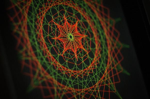 Панно в технике String Art Часы, Рукоделие без процесса, Флуоресценция, Ультрафиолет, Моё, Handmade, String art, Длиннопост