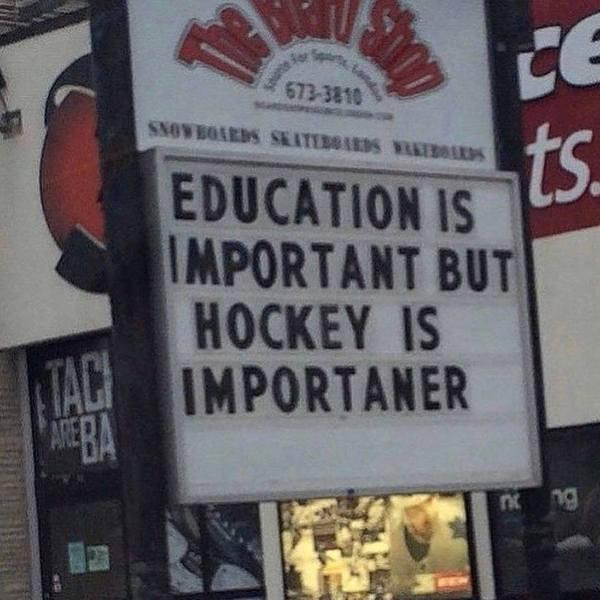 """Как любят хоккей в Канаде: """"Образование важно, но хоккей более важнее"""""""
