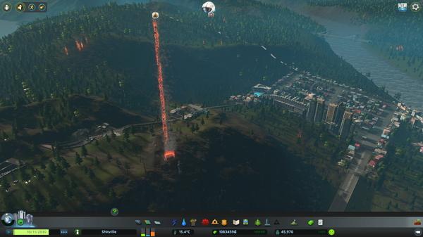 Когда после грозы загорается оповещающая радиовышка.. Cities: Skylines, Игры
