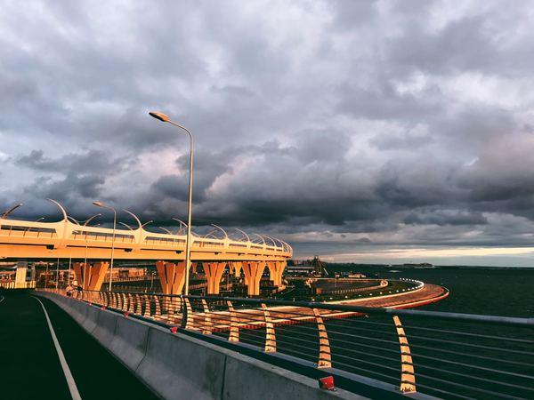 Волшебные виды с Яхтенного моста в Санкт-Петербурге Яхтенный, Мост, Санкт-Петербург, Газпром арена