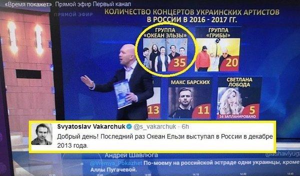 """Лидер группы """"океан эльзы"""" мешает работе первого канала)))"""