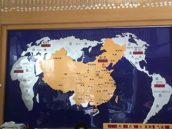 Карта мира в Китайском отеле