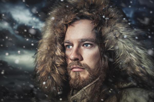 Snowstorm featheratlas, фотография, портрет, обработка