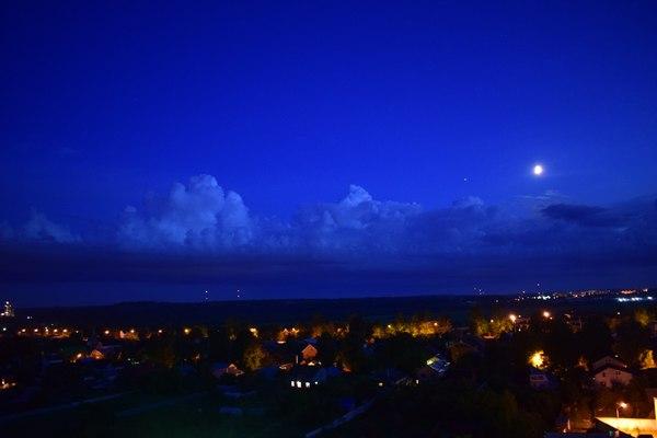 Арабская ночь Небо, фотография, Луна, Юпитер, облака, аладдин, Дисней, вид из окна