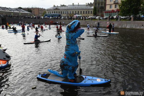 Динозавры тоже любят SUP Динозавры, Санкт-Петербург, SUP