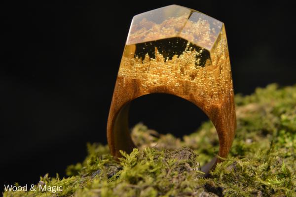 Кольца из дерева и эпоксидной смолы + творческие фото (часть 5) ручная работа, кольца из дерева, эпоксидная смола, макросъемка, длиннопост, рукоделие без процесса