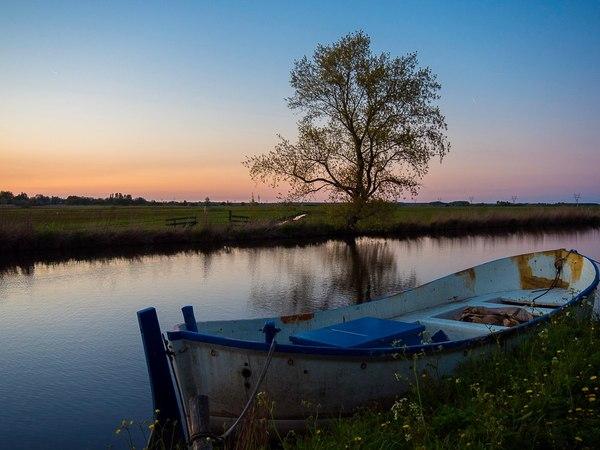 Вечер в пригороде Амстердама фотография, Нидерланды, закат, красота, деревня, путешествия