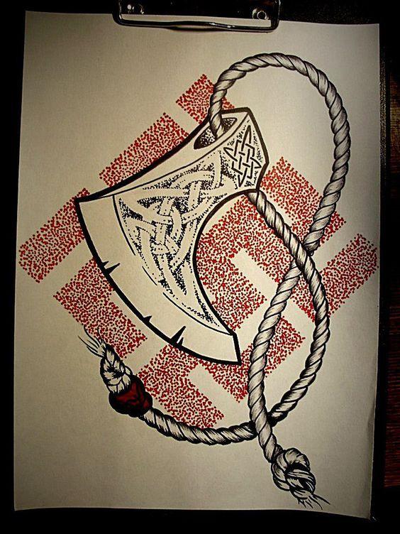 Эскизы языческих татуировок лига любителей татуировки, длиннопост, тату, язычество, славяне, кельты, викинги