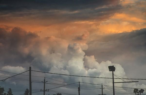 Пожар в небе закат, облака, небо в огне, nikon