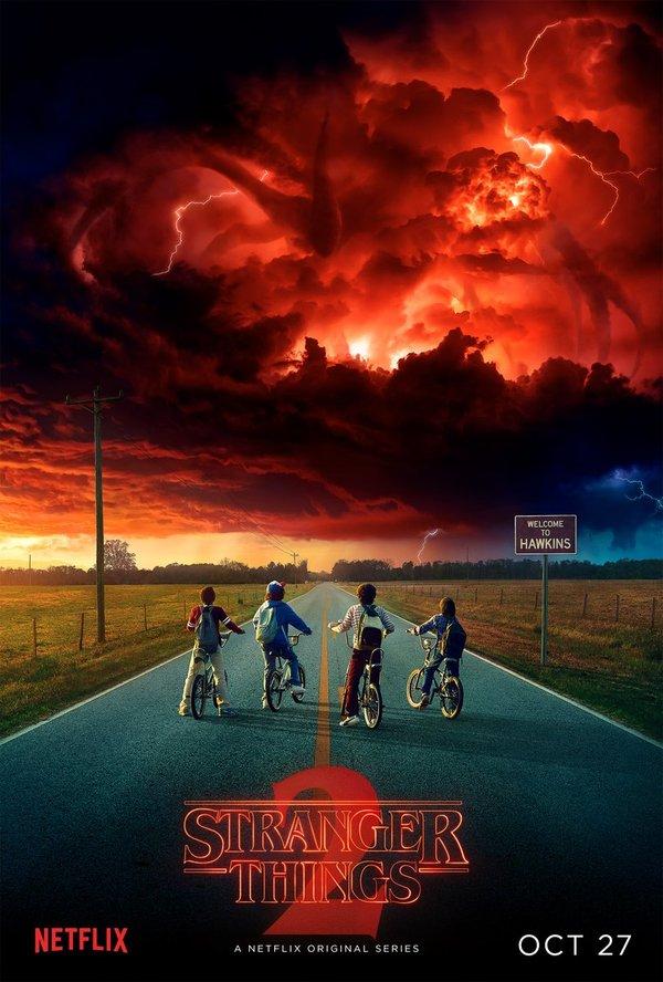 """27 октября премьера второго сезона сериала """"Очень странные дела""""."""
