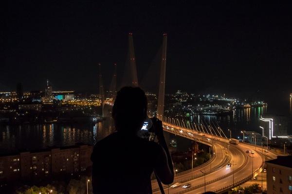 Немного фото ночного Владивостока. владивосток, Приморский край, фотография, Золотой мост, длиннопост