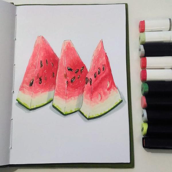 Рисунки маркерами (Летнее) маркер, рисунок маркером, рисунок, спиртовые маркеры, длиннопост