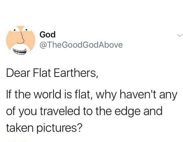 Последователи плоской Земли, плоская земля, бог, земля