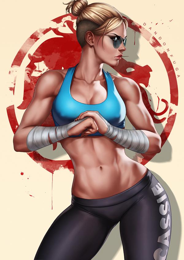 Cassie Cage Dandonfuga, Cassie Cage, Арт, Спортивные девушки, Mortal kombat, Mortal Kombat x, Крепкая девушка