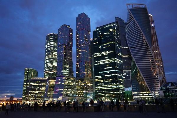 Набережная Москва-Сити, Москва, Sony