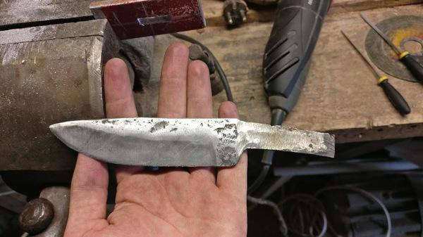Первая проба изготовления рукояти ножа рукоделие с процессом, экзотическая древесина, ручная работа, нож, длиннопост