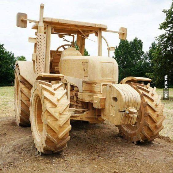 Трактор ремесло, трактор, модель, работа с деревом, 9gag