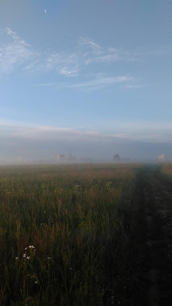 Туманный рассвет Утро, Туман, Город