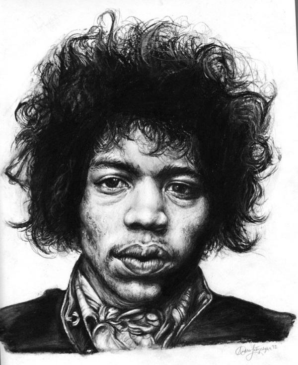 Несколько портретов углём Рисунок углем, Портреты людей, Длиннопост