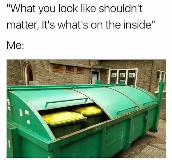 О внутреннем мире мусор, мусорные баки, Внутренний мир, reddit