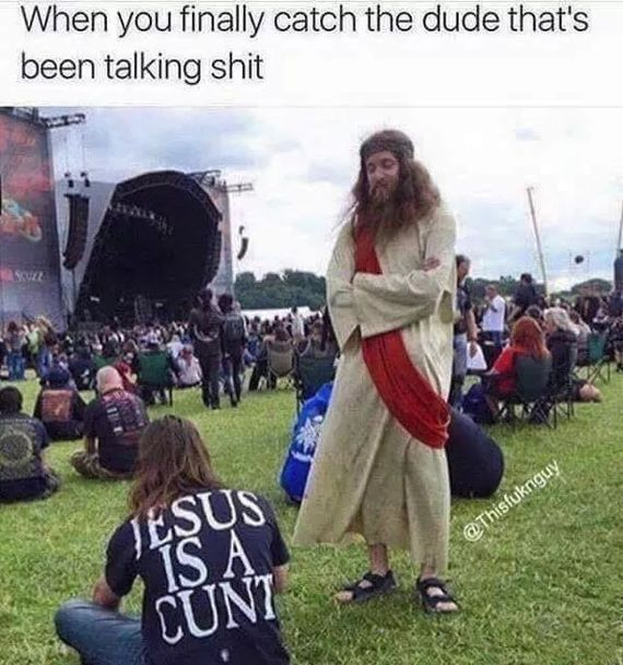 Дотрынделся Иисус, надпись на фтболке, pvp