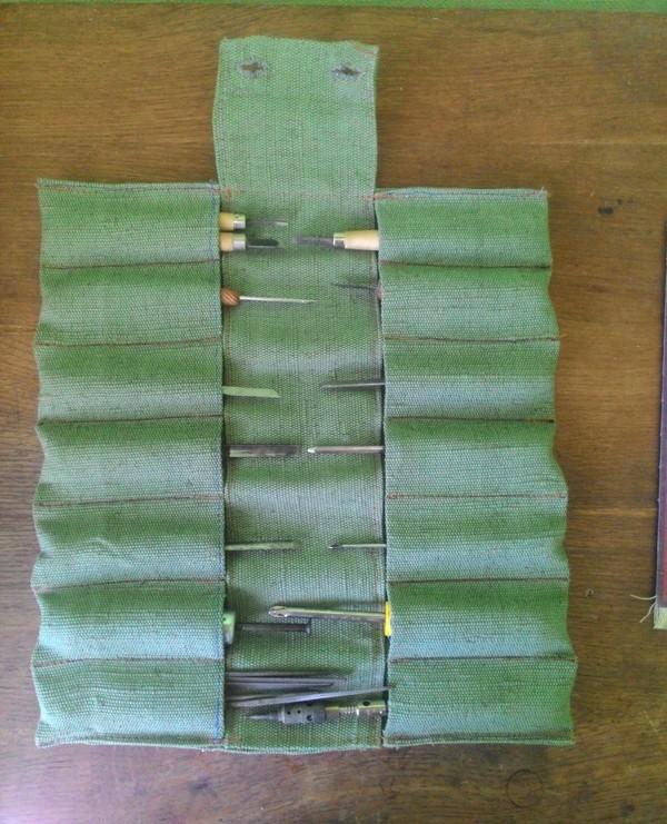 Чехол-скрутка для инструмента своими руками, чехол, брезент, рукоделие без процесса