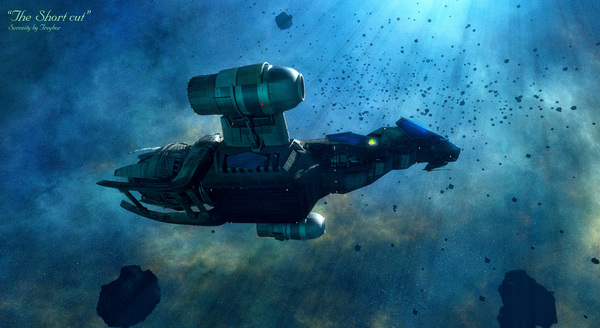 Подборка красочных рендеров от GrahamTG светлячок, serenity, Sci-Fi, Космический корабль, 3d, компьютерная графика, lightwave3d, длиннопост