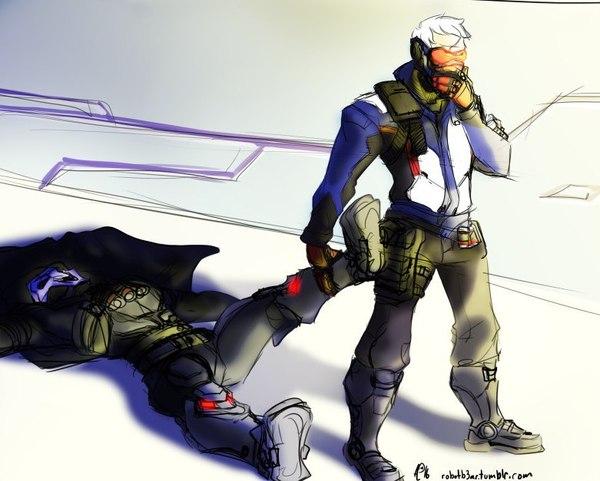 Из чего же он состоит? overwatch, blizzard, Soldier 76, reaper, Игры