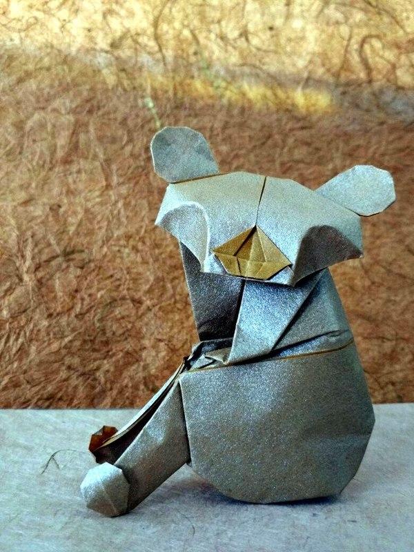 Koala by Alfredo Giunta. Оригами. Оригами, Коала, Alfredo Giunta, Моё, Длиннопост