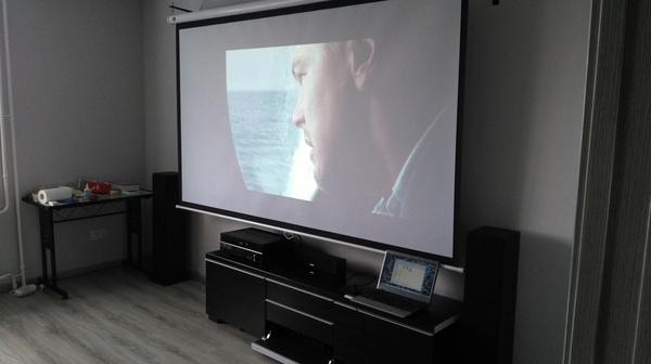 Домашний кинотеатр у себя дома дамшний кинотеатр, ремонт, квартира, проектор, рукожоп, Ясдеаль, длиннопост
