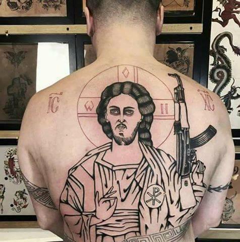 Когда решил сделать христианскую модную татуху