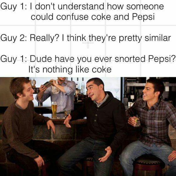 Кокс(coke)>>Pepsi 9gag, Pepsi, coke, coca-cola, игра слов