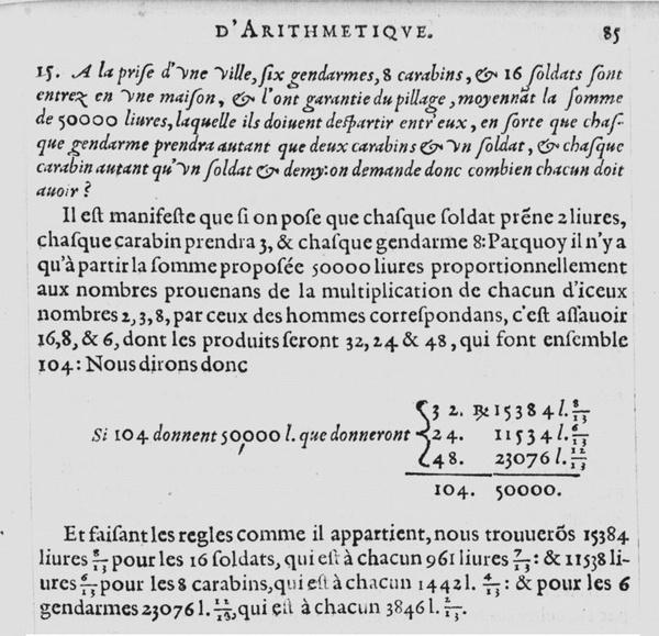Занимательная арифметика из 1621-го года... Математика, Задача