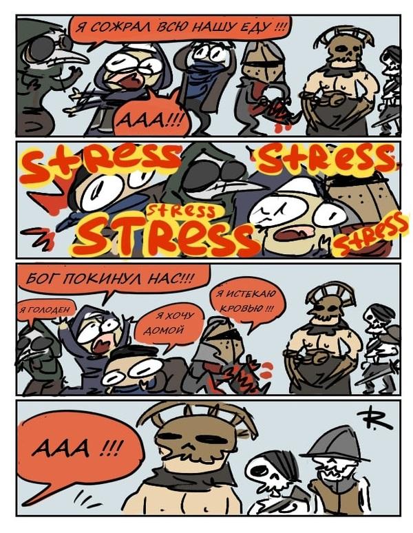 Типичный поход в подземелье darkest dungeon, неудача, боль, компания истеричек, Комиксы, перевод, длиннопост, Ayej