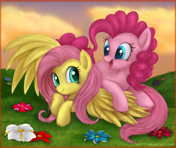 Blooming bliss My Little Pony, ponyart, Pinkie Pie, Fluttershy