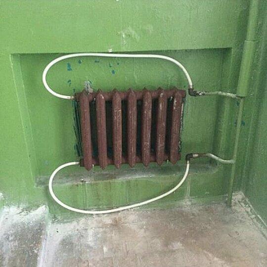 Грамотный монтаж радиаторов Радиатор, Батарея, Красота, Монтаж, Длиннопост