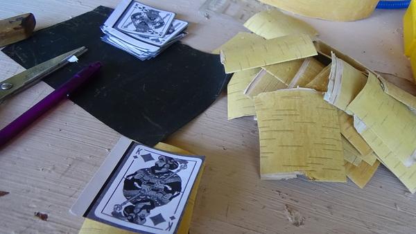 Крапленые подарочные карты из бересты карты, длиннопост, рукоделие с процессом, своими руками, handmade, подарок, береста, Из России с Любовью