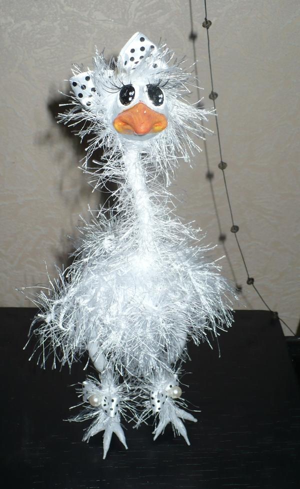 Страусихи Страус, модель, скульптура, своими руками, птицы, рукоделие без процесса, рукоделие, моделизм, длиннопост