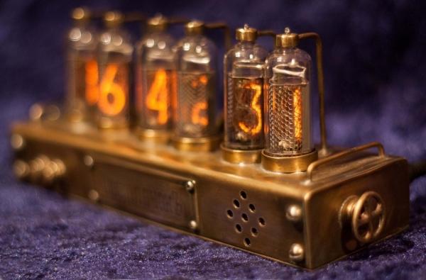 Ламповые часы NIXIE на ИН-14 nixie clock, ламповые часы, стимпанк, длиннопост