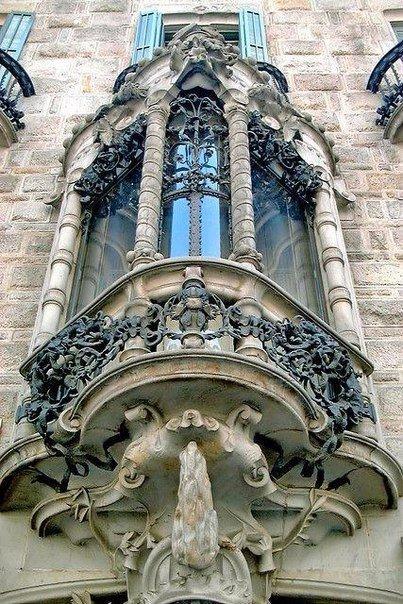 Балкон как искусство. Барселона архитектура, балкон, Искусство, барселона, длиннопост