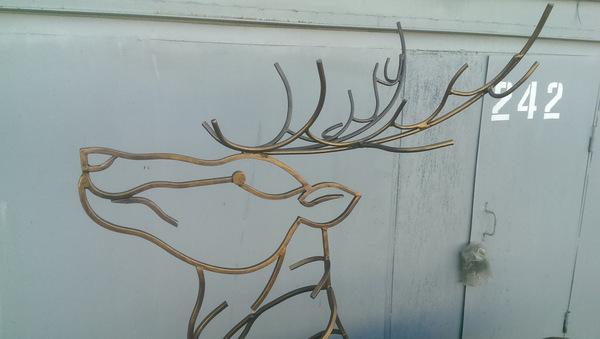 Мангал в виде оленя мангал, олень, ковка, холодная ковка, праздник шашлык кебаб мангал, огонь, сварка, лето, видео, длиннопост