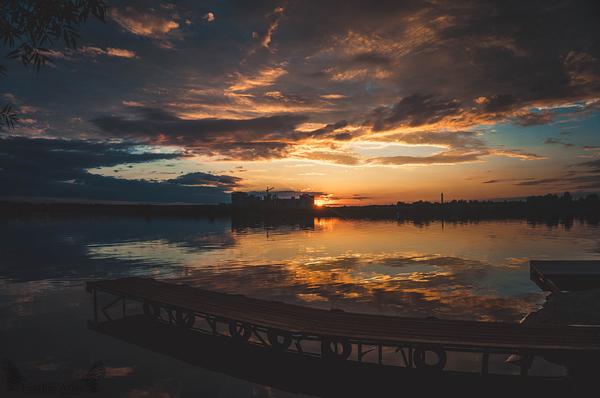 Закатное featheratlas, природа, пейзаж, закат, Волга, длиннопост