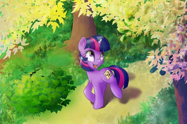 Running of the Leaves My Little Pony, ponyart, Twilight Sparkle, MLP Season 1