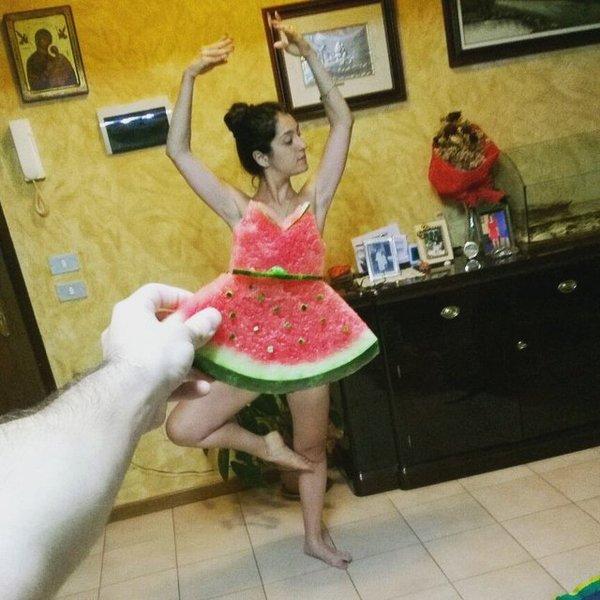 Арбузный флешмоб.#WaterMelonDress арбуз, лето, куда катится мир, Интересное, watermelon, свежее, длиннопост