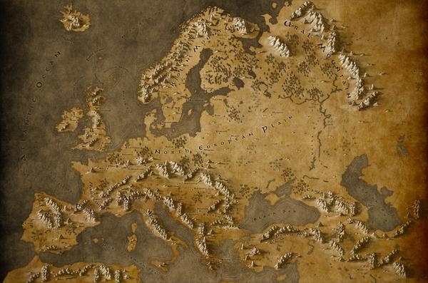 Fantasy Europe. В стиле Толкина толкин, Европа, кликабельно, фентези